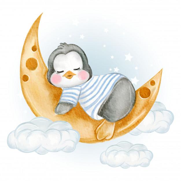 bebe-pinguino-cagado-sobre-nubes-paraguas_41066-1048